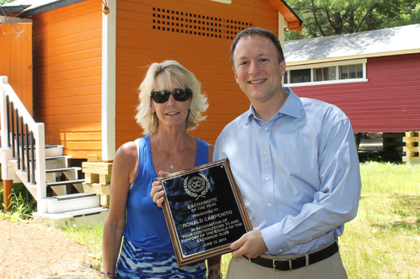 Ron Carpenito named Exchangite of the Year by Haverhill Exchange Club