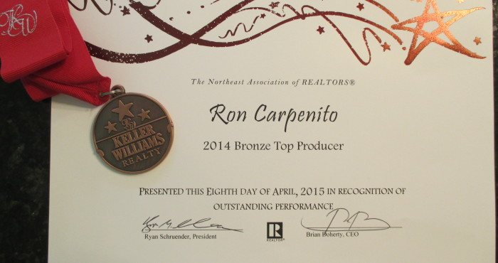 Ron Carpenito - Keller Williams Realty Andover - Top Producer Award