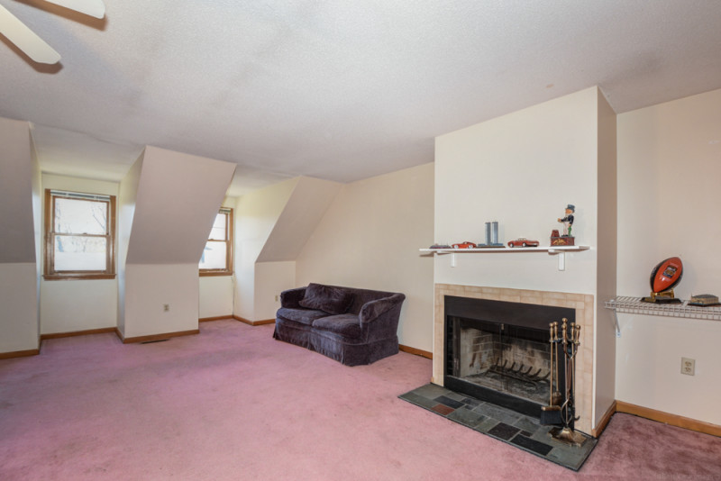 Bedroom with Fireplace - Condo in Tewksbury, MA
