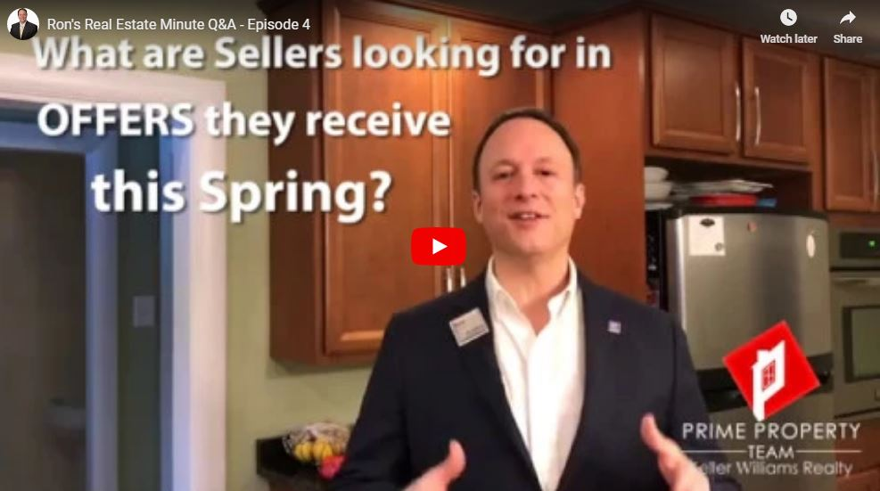 What are sellers looking for in the offers they receive this spring?