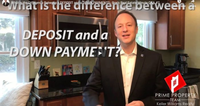 What Is The Difference Between a Deposit and a Down Payment